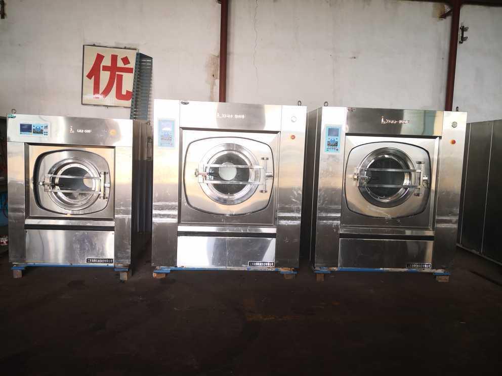 盘锦处理二手航星海狮三棍烫平机折叠机送布机二手50公斤水洗机