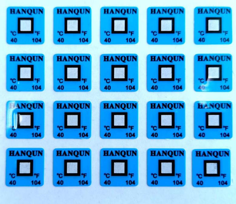 HQS-40度不可逆测温贴片示温片