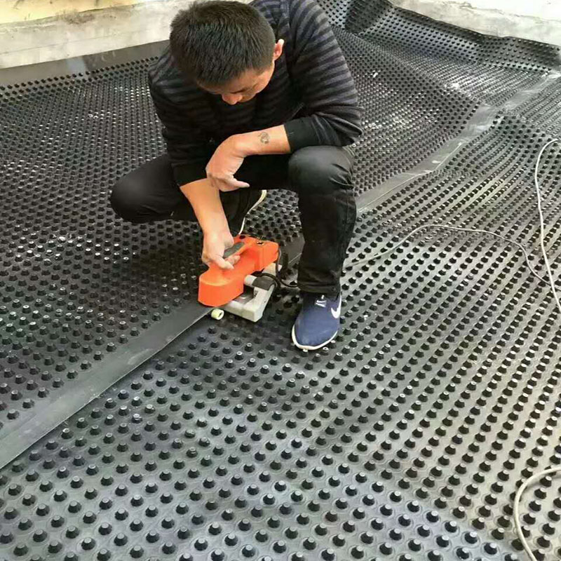 百色全新料2.5公分地下车库底板排水板
